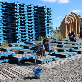 Pallet Pavilion that has multi-use functions