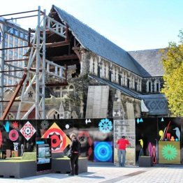 Christchurch Cathedral was severely damaged by the quake