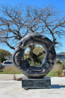 Public art, corner of Brougham and Colombo Streets