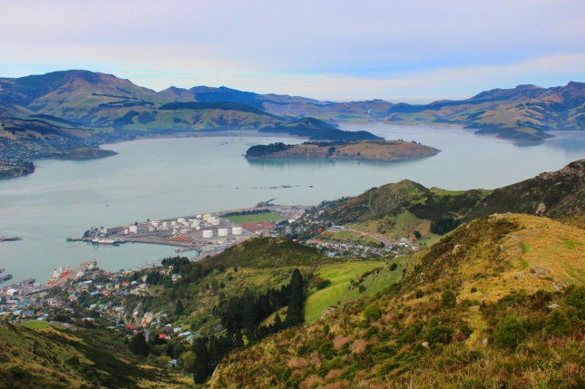 Lyttelton Harbour as seen from the top of the gondola attraction