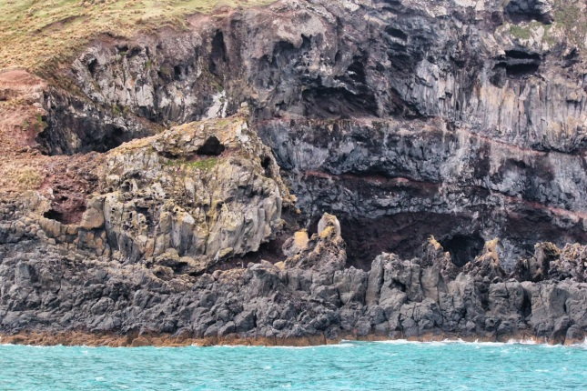The Banks Peninsula experienced many lava flows.