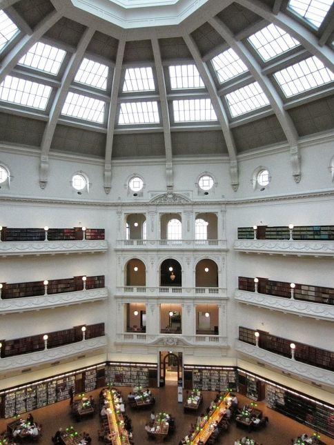State Library of Victoria's reading room dome
