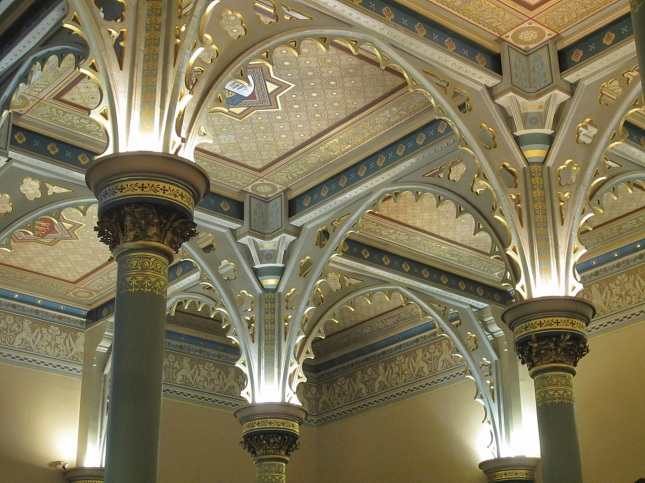 The Columns Capitals Arches And Ceiling Are Richly Detailed Gilded Like Entering A Venetian Palace
