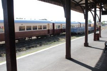 """Trains only make """"heritage"""" journeys to nearby Drysdale and Lakers Siding."""