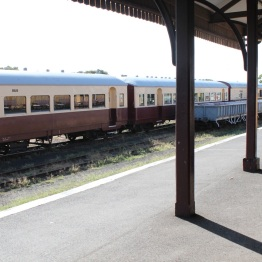 "Trains only make ""heritage"" journeys to nearby Drysdale and Lakers Siding."