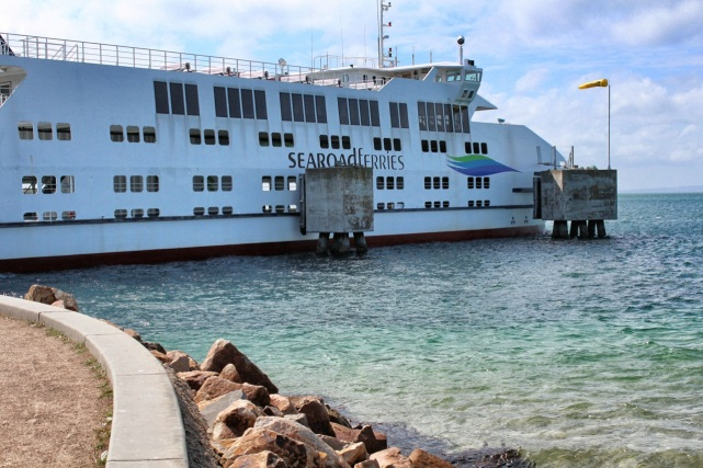 Ferry docked at Sorrento terminal