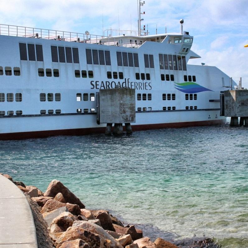 Ferry docked at Sorrento terminal