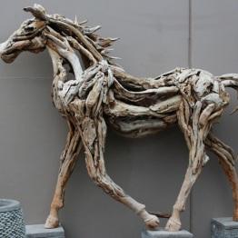 Driftwood sculpture at Good