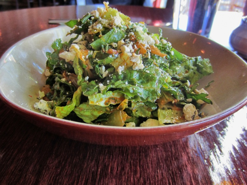 Raw Winter Greens Salad