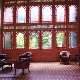 Restored interior of the Vue Grand Hotel.