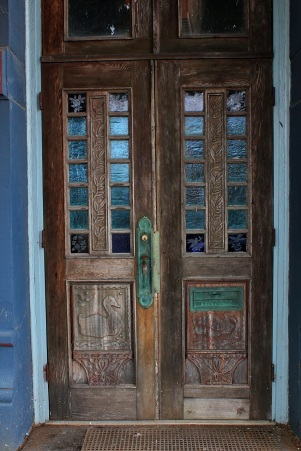 Carved double doors