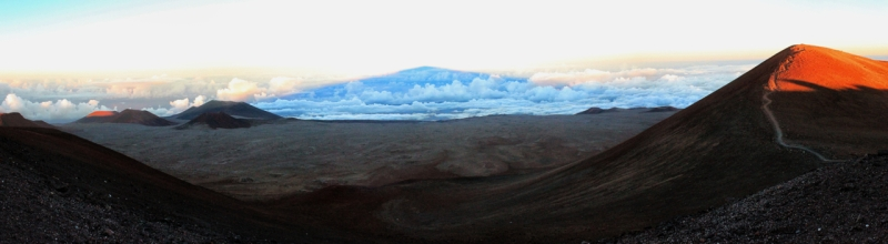 Shadow of Mauna Kea on cloud cover from the summit