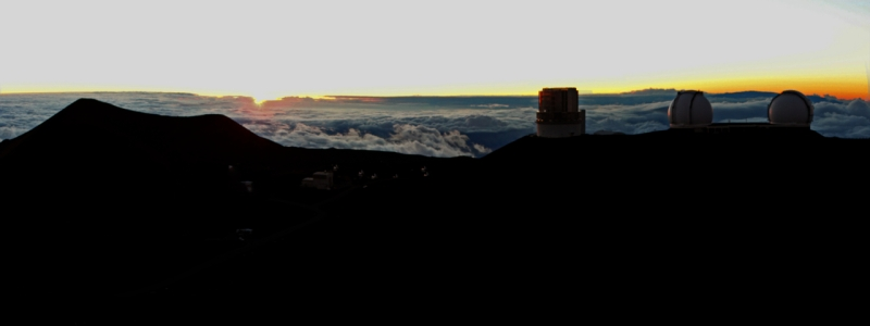 Sunset, summit of Mauna Kea