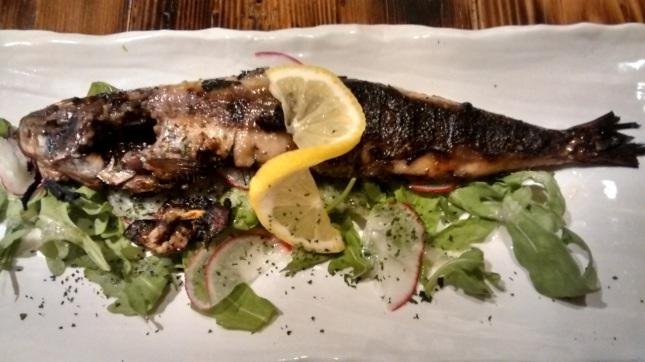 Grilled shio koji sardines