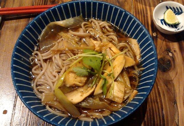 Matsutake soba (nanban)