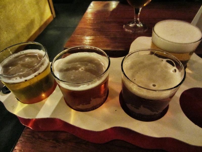 Flight of four beers