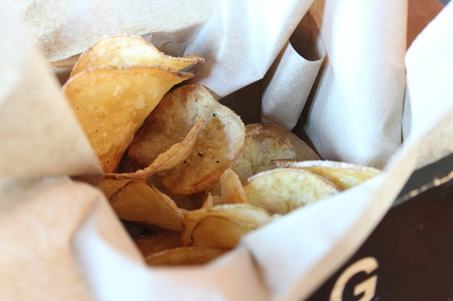 Complimentary house-made potato chips