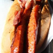 Bratwurst sandwich from Fritz's Wieners