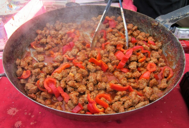 Sausage and pepper filling