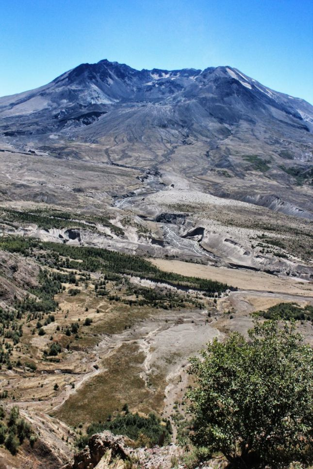 North face, Mount St. Helens, Johnson Ridge Observatory
