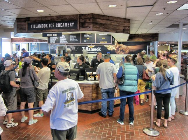 Tillamook ice cream lines