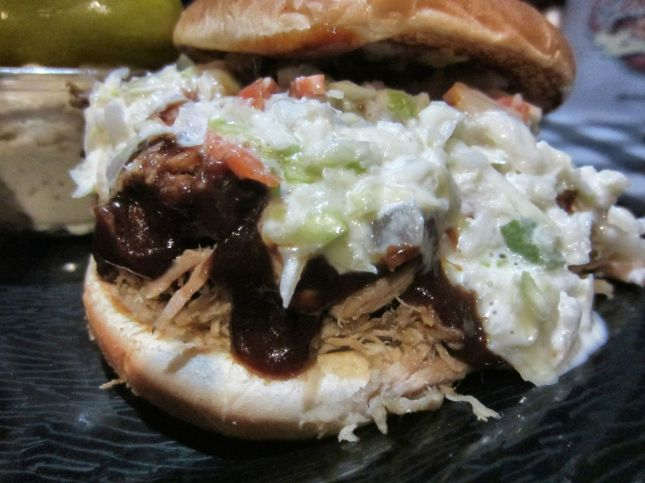 BBQ pork shoulder sandwich