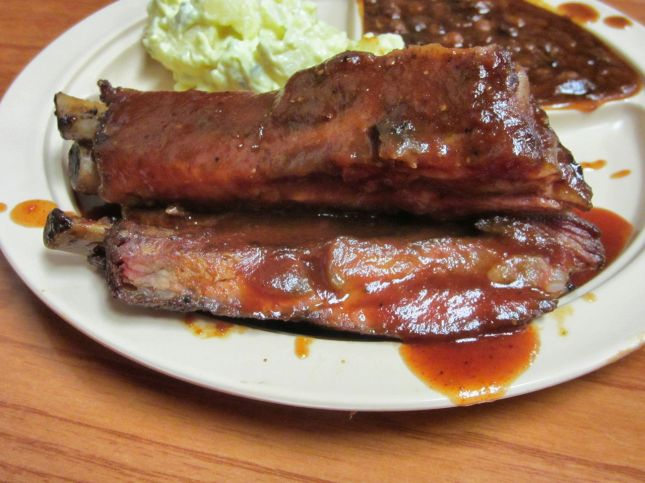 Interstate Bar-B-Cue's pork ribs