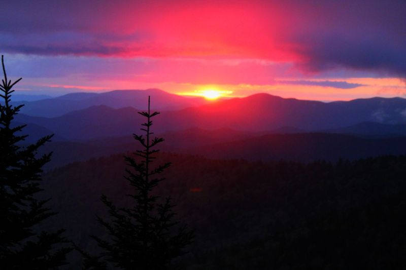 Sunset, Clingmans Dome trail