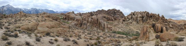 Alabama Hills are the same age as the Sierras to the east