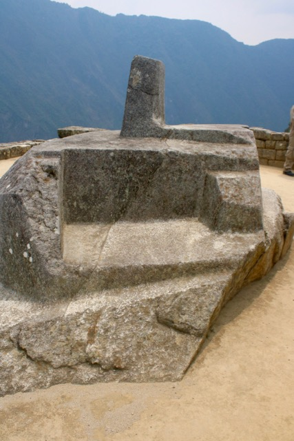 Intihuatana stone ('Hitching Post of the Sun') has equinoctial alignments, Machu Picchu