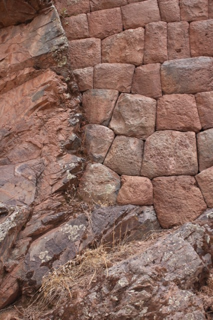 Planed surfaces (left), Pisac