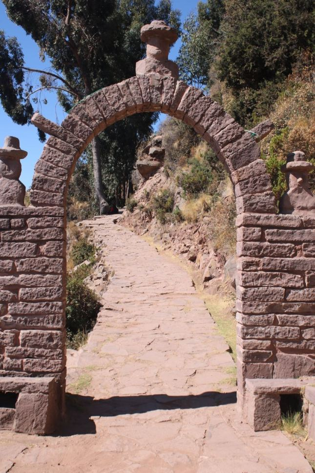 Stone arches are common on Taquile