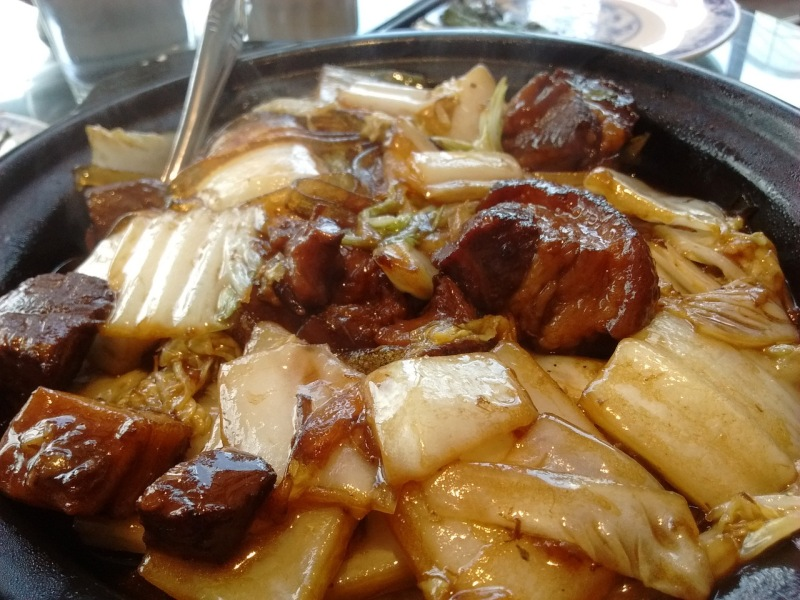 Stewed Pork with Rice Noodle and Napa