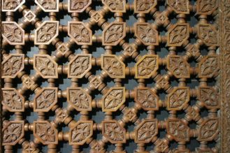 Cedar carving, Hassan II Mosque, Casablanca
