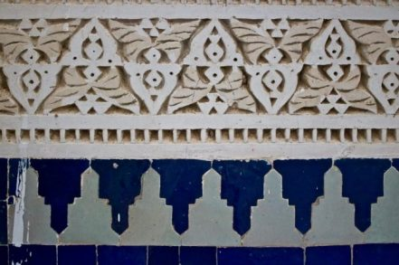 Plaster frieze, Moulay Ali Cherif Mausoleum, Rissani