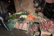 Produce vendor, Marrakech medina