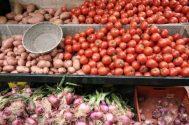 Produce stand, Marrakech medina